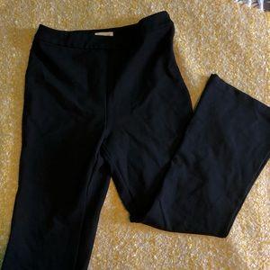 High waisted flare stretch pants